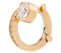18kt Gelbgoldohrstecker mit Diamant