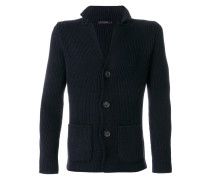 fitted buttoned sweatshirt