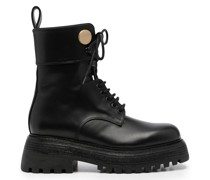 lace-up leather cargo boots