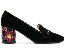 Loafer mit floralem Absatz