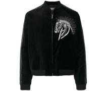 horse embroidered bomber jacket