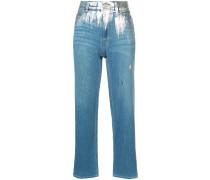 Jeans mit Metallic-Detail