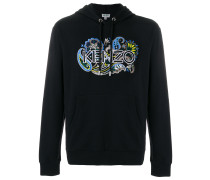 paisley logo embroidered hoodie