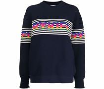 striped logo-knit jumper