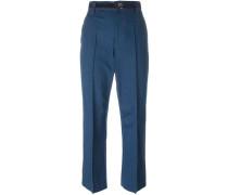 'Bowie' Cropped-Jeans mit Bügelfalte - women