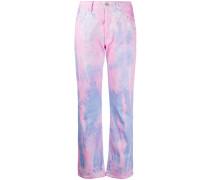 'Lilly' Jeans im Batik-Look