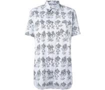 Gestreiftes Hemd mit Print - women - Baumwolle