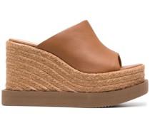 Carcar Wedge-Sandalen aus Leder