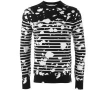 Pullover mit Farbklecksen - men - Schurwolle - L