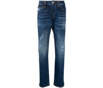 Halbhohe Jeans mit geradem Schnitt