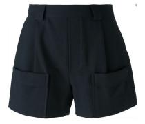 Shorts mit seitlichem Reißverschluss