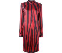 striped button front dress - women - Seide - 38