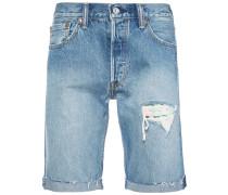 '501' Shorts mit Distressed-Effekt