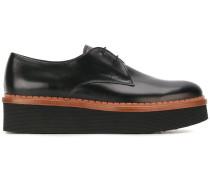 Flatform-Derby-Schuhe