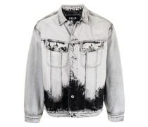 Jeansjacke mit Acid-Wash-Effekt