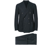 double breasted pinstripe two piece suit