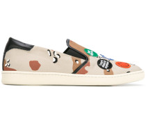 Slip-On-Sneakers mit Camouflagemuster