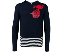 Pullover mit gestreiftem Saum - men - Wolle - XL