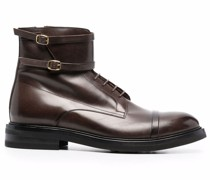 George leather combat boots