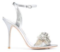 Sandalen mit Kristall-Applikationen