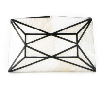 panelled mother of pearl clutch