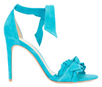 frilled tie-up sandals - women