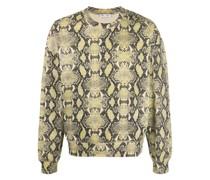 Sweatshirt mit Schlangenleder-Print