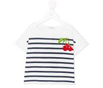 T-Shirt mit Kirsch-Stickerei