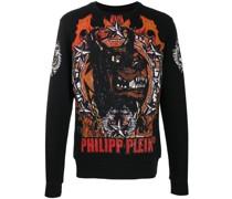 Pullover mit Rottweiler-Print