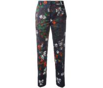 Cropped-Hose mit floralem Print