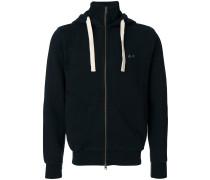 roll neck zip hoodie