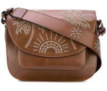 palm tree studded satchel - women - Leder