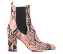 Chelsea-Boots mit Pythonleder-Optik