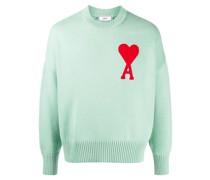 'Ami de Cœur' Pullover mit Logo-Patch