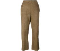 Cropped-Hose aus Wildleder - women - Wildleder