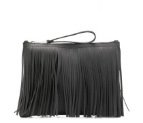 fringed clutch bag