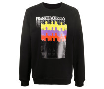 Sweatshirt mit Silhouetten-Print