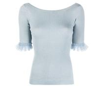 fine-knit flare-cuff top