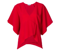 deep V-neck blouse