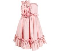 Trägerloses Kleid mit Rüschen