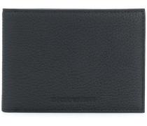 bi-fold pebbled leather wallet