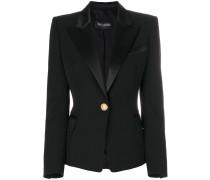 embellished-button tuxedo jacket