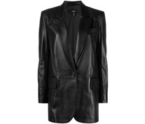 matte single-breasted blazer