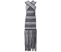 Kleid mit gekreuzten Trägern