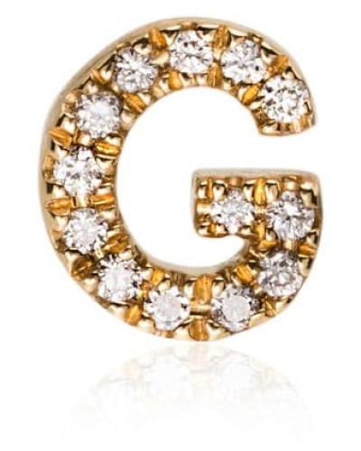 18kt 'G' Gelbgoldanhänger mit Diamanten
