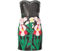 Schulterfreies Intarsien-Kleid