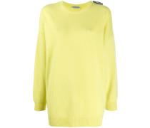 Oversized-Pullover mit Logo-Schild