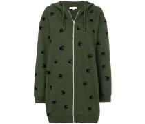 long Swallow zipped hoodie