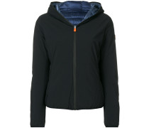 padded lined zip hooded jacket