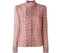 Hemd mit Herz-Print - women - Seide/Elastan - 44